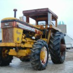 Yellow tractor